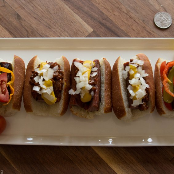 Miniature Coney and Chicago-Style Hotdogs