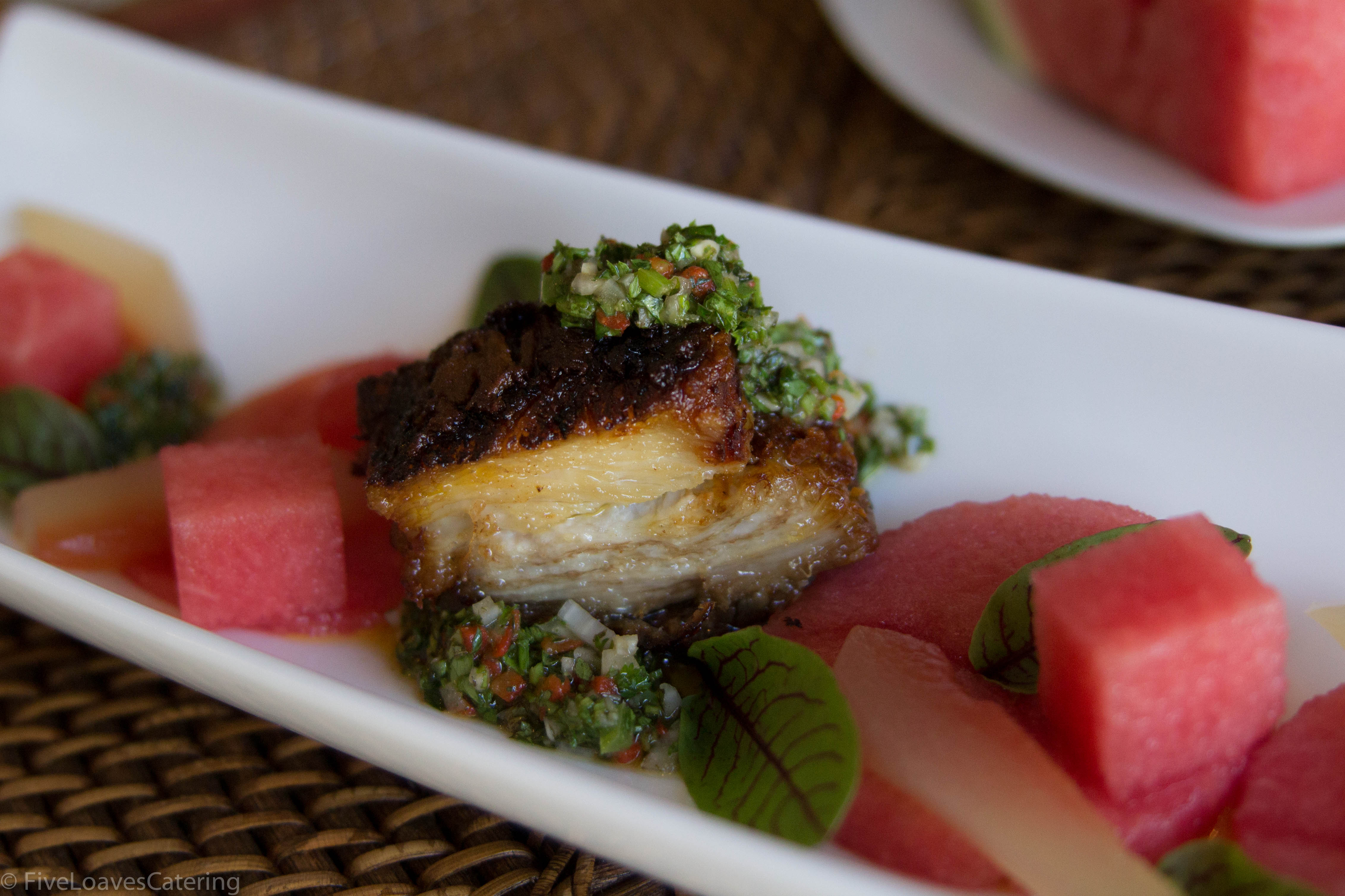 Pork Belly and Watermelon
